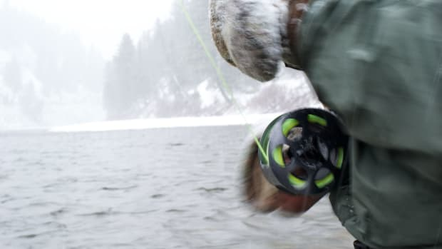 Fishing on the Salmon River in Idaho.