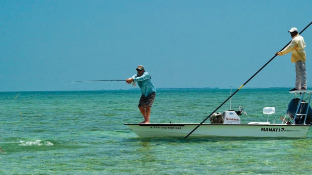 Now that's what we came here for. The fish on the flats of Cuba have seen far less pressure than those in more open waters.