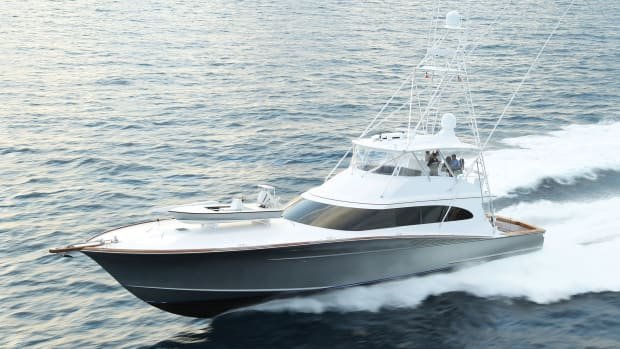 The 87-foot Betsy was built by Spencer yuachts of Wanchese, N.C.