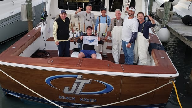 The team aboard JT released a tournament record 41 sails in one day.
