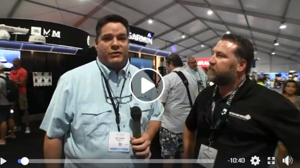 Garmin booth tour at FLIBS 2018 for boat show live