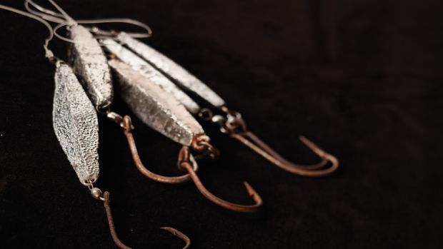 Don't let plain fool you. Diamond jigs are an effective lure for plumbing the depths.