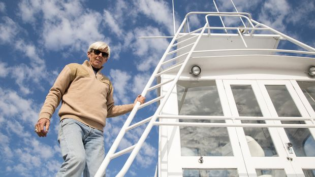 For this avid angler, his 1960 Hatteras is more than a boat, it's his life.