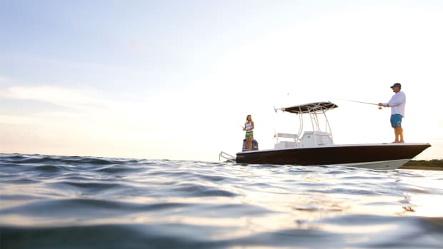 The bay boat is a versatile inshore/coastal hybrid. The EdgeWater 240IS is shown here.
