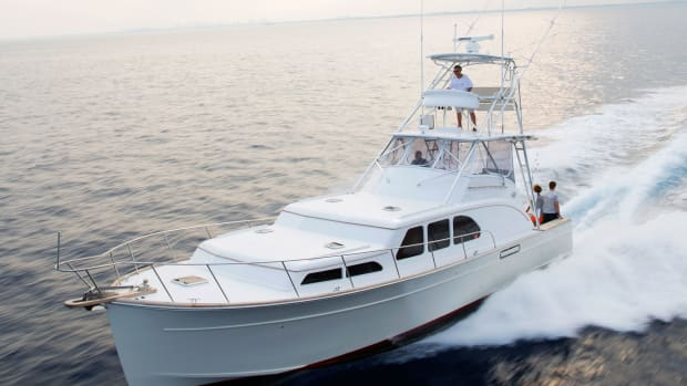 The Huckins 45, which debuted at the Palm Beach International Boat Show in March, was a long time coming.