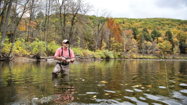Dan Laffin is armed for the gentler foe of the Housatonic River