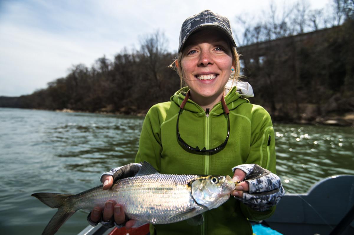 Kami Swingle with a nice fish.