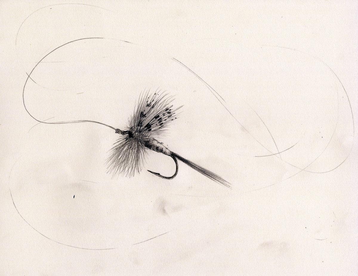 A Hendrickson dry fly