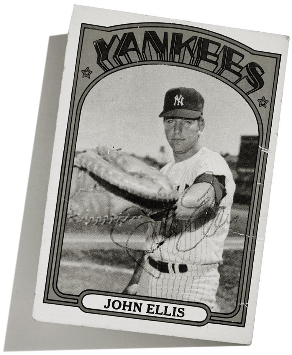 John Ellis-baseball card