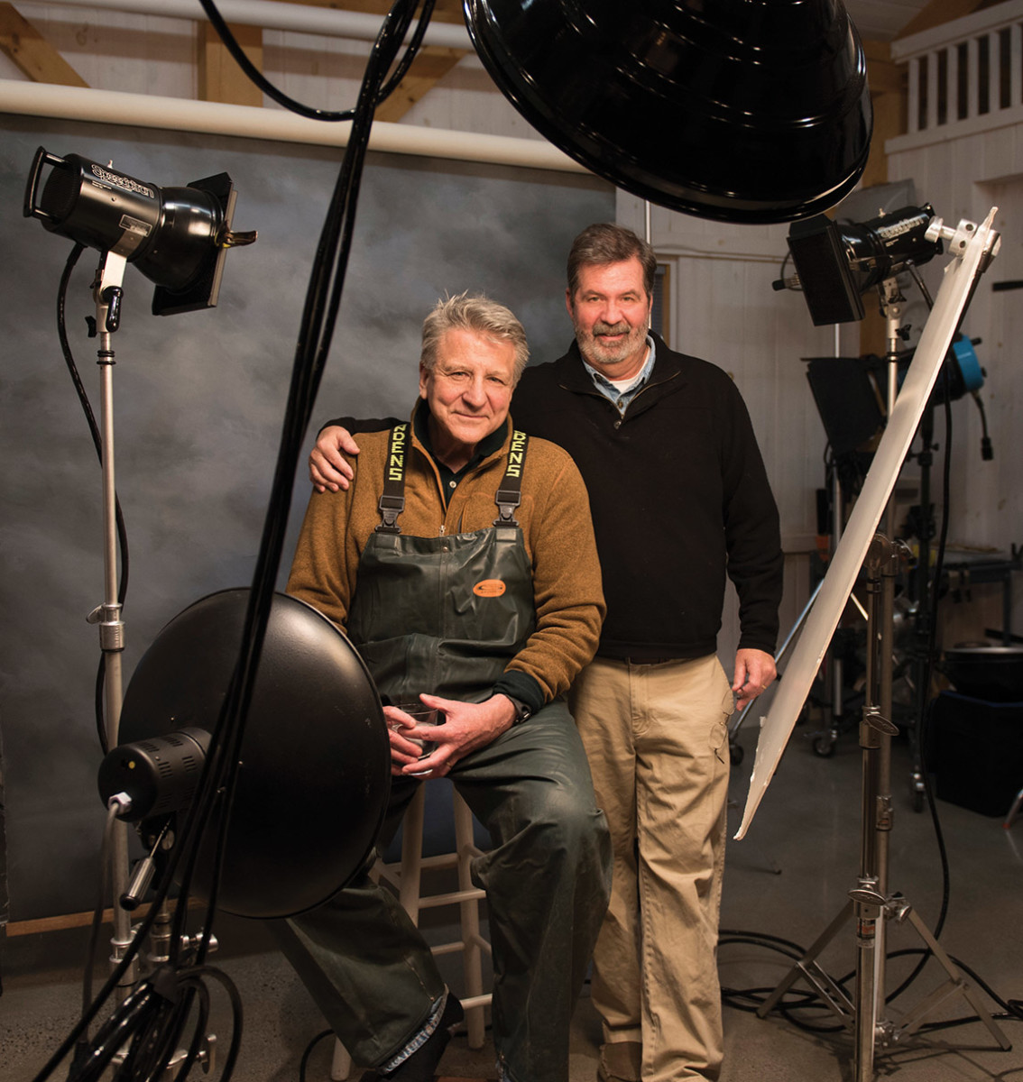 John Ellis with Anglers Journal editor Bill Sisson