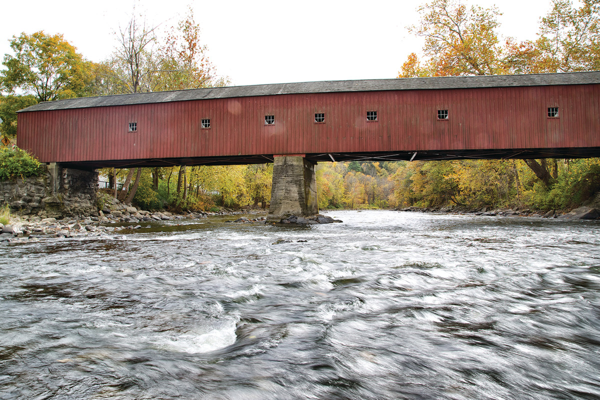 West Cornwall covered bridge is an iconic New England landmark