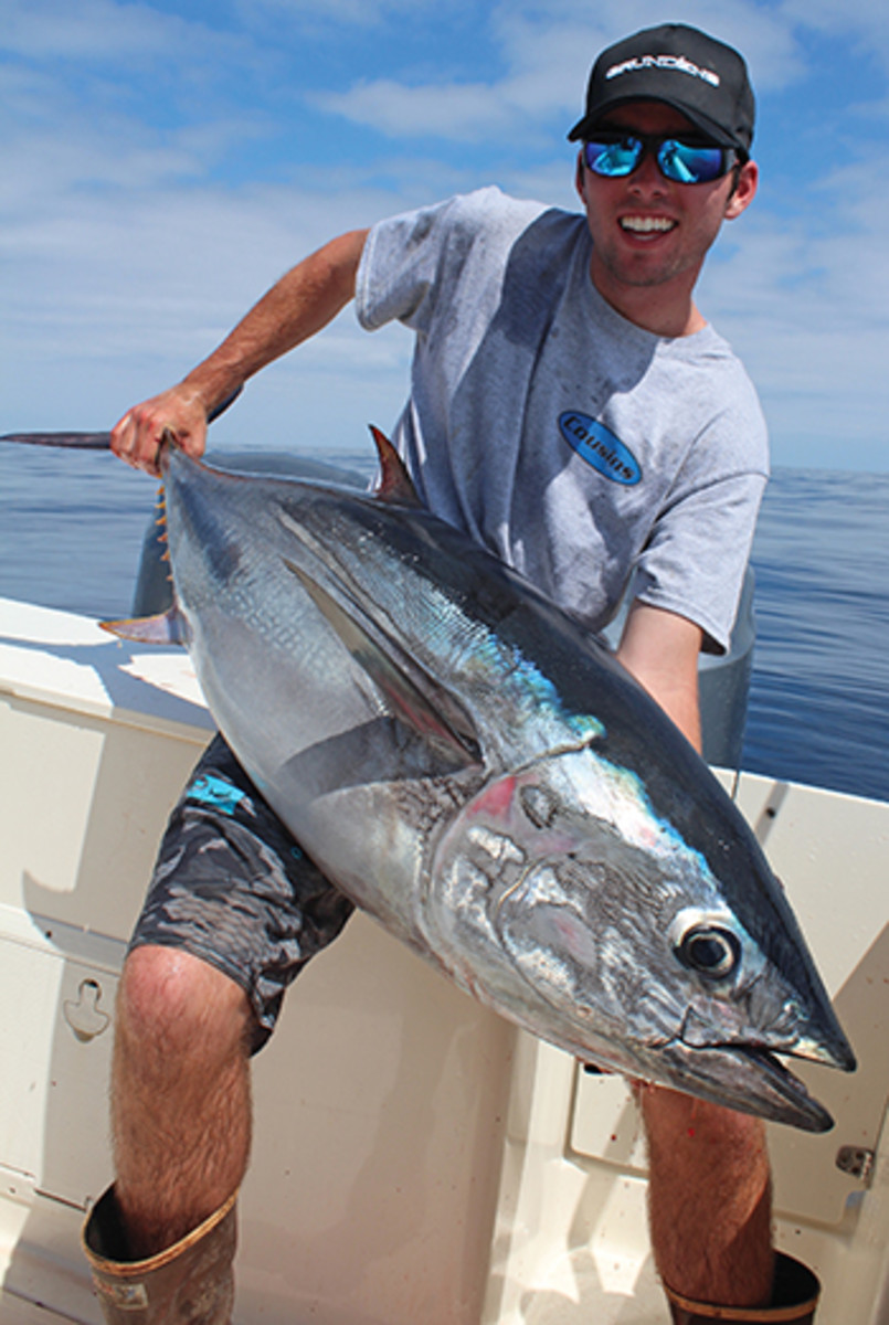 Keeping the ears open and mouth shut led to this nice bluefin.