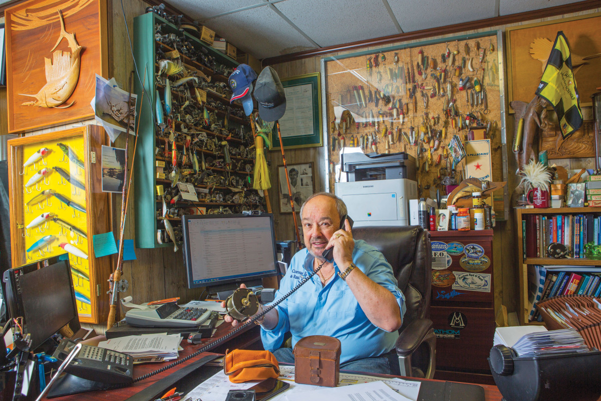 Snook expert and shop owner Greene has been collecting tackle for more than 30 years