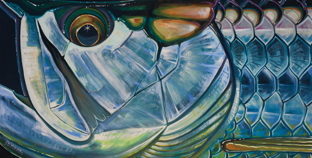 TarponBlackBack by the fishing painter.