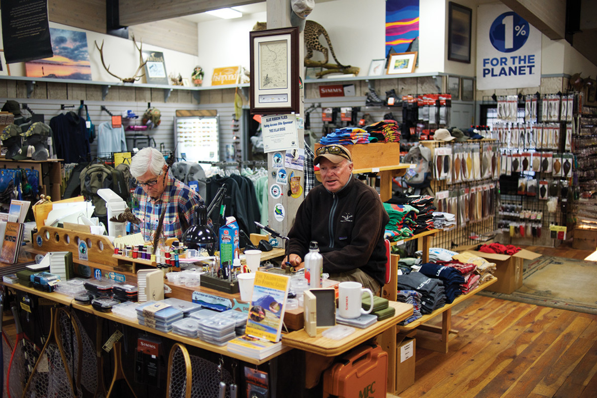 Craig Matthews (left) and guide Doug Pope at Blue Ribbon Fly Shop
