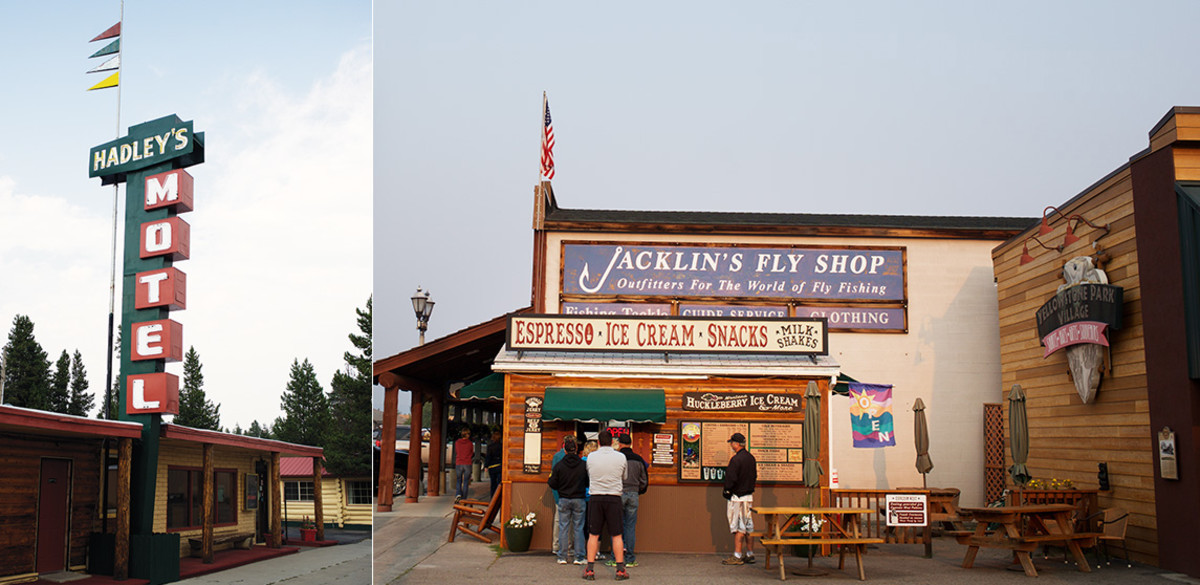 Jacklin's Fly Shop and espresso Hadley's Motel
