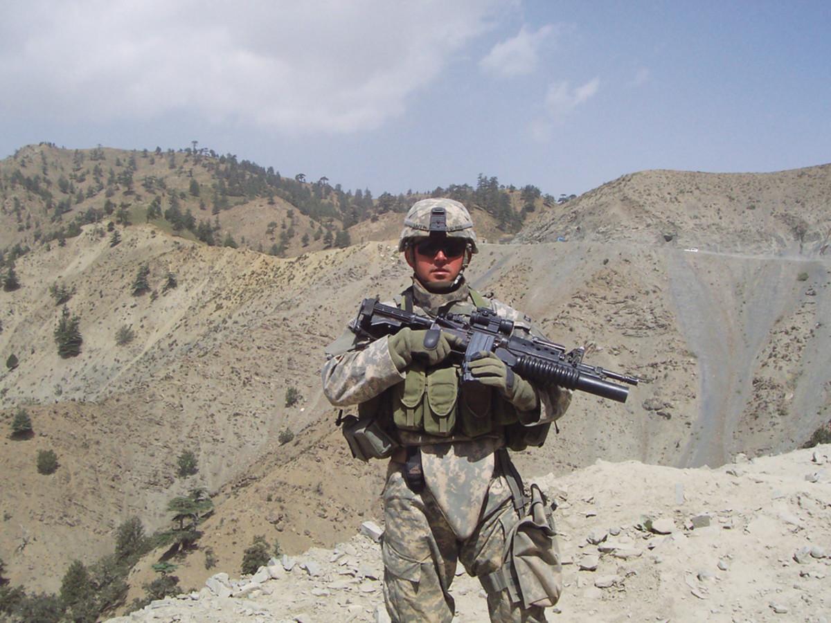DAN LAFFIN 2006 IN KHOST-GARDEZ PASS, AFGHANISTAN