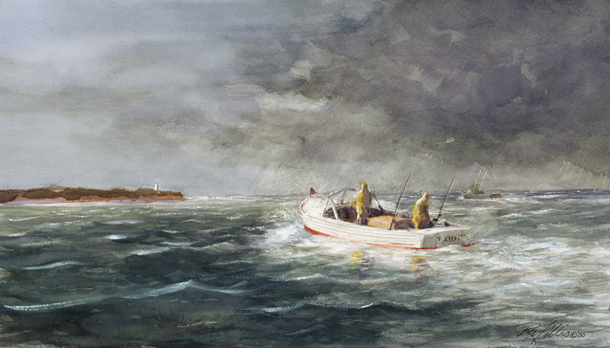Racing the Squall by the painter Ray Ellis.
