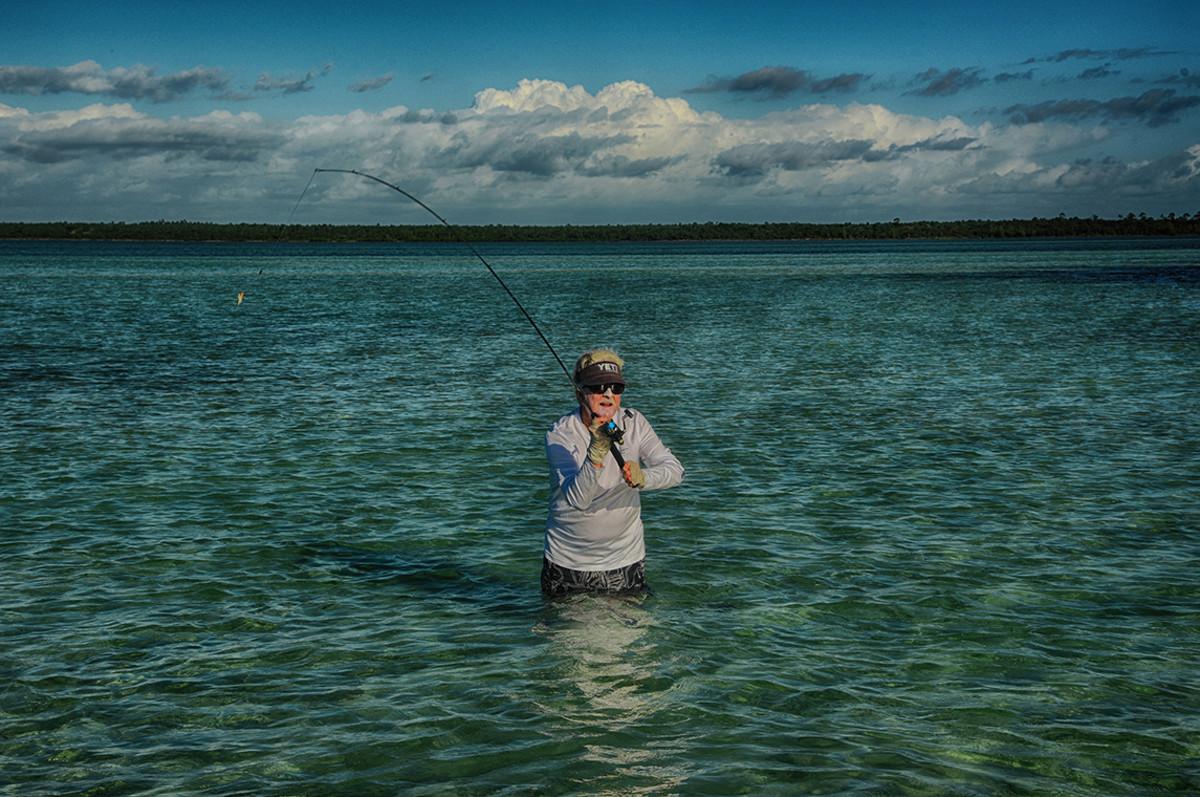Richard Stanczyk fishing in the Keys