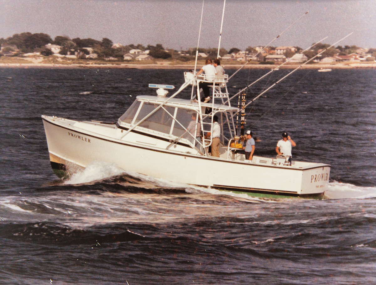 Anderson fished this 35-foot Down East boat for nearly two decades. His last boat was a 42-foot Alex Willis express fisherman. All were named Prowler.