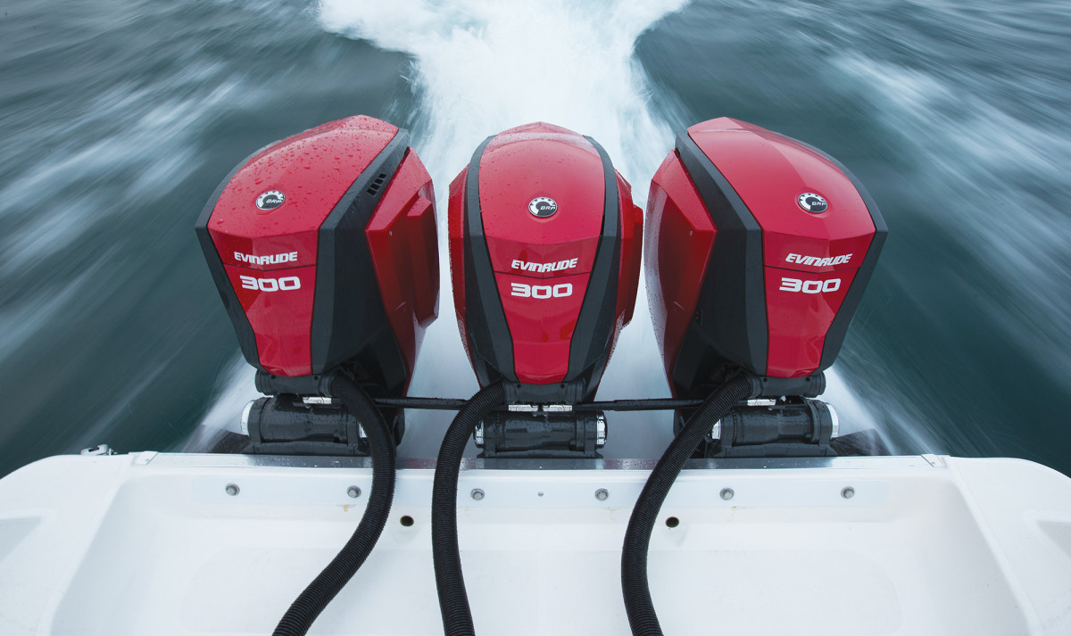 Evinrude is the lone manufacturer of 2-stroke outboards, which have better bottom-end torque.