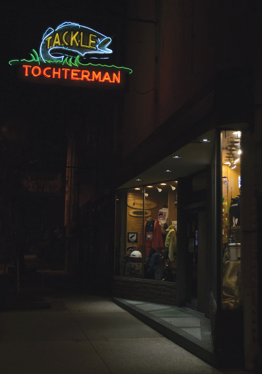 Tochterman's tackle shop in Baltimore