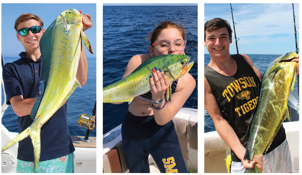 The mahi trio: Max, Mollie and David grew up fishing with their father, providing plenty of entertainment as they chased fish and made memories.