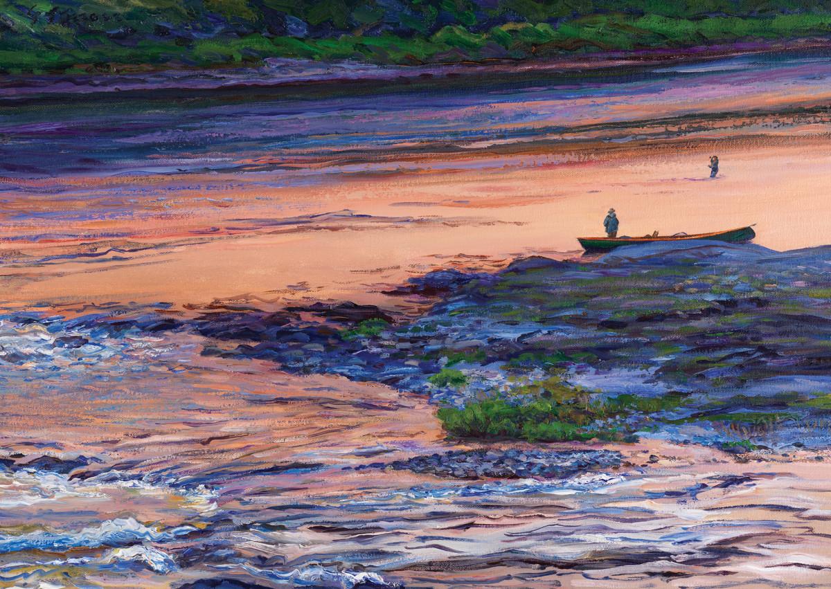 Twilight Salmon Fishing