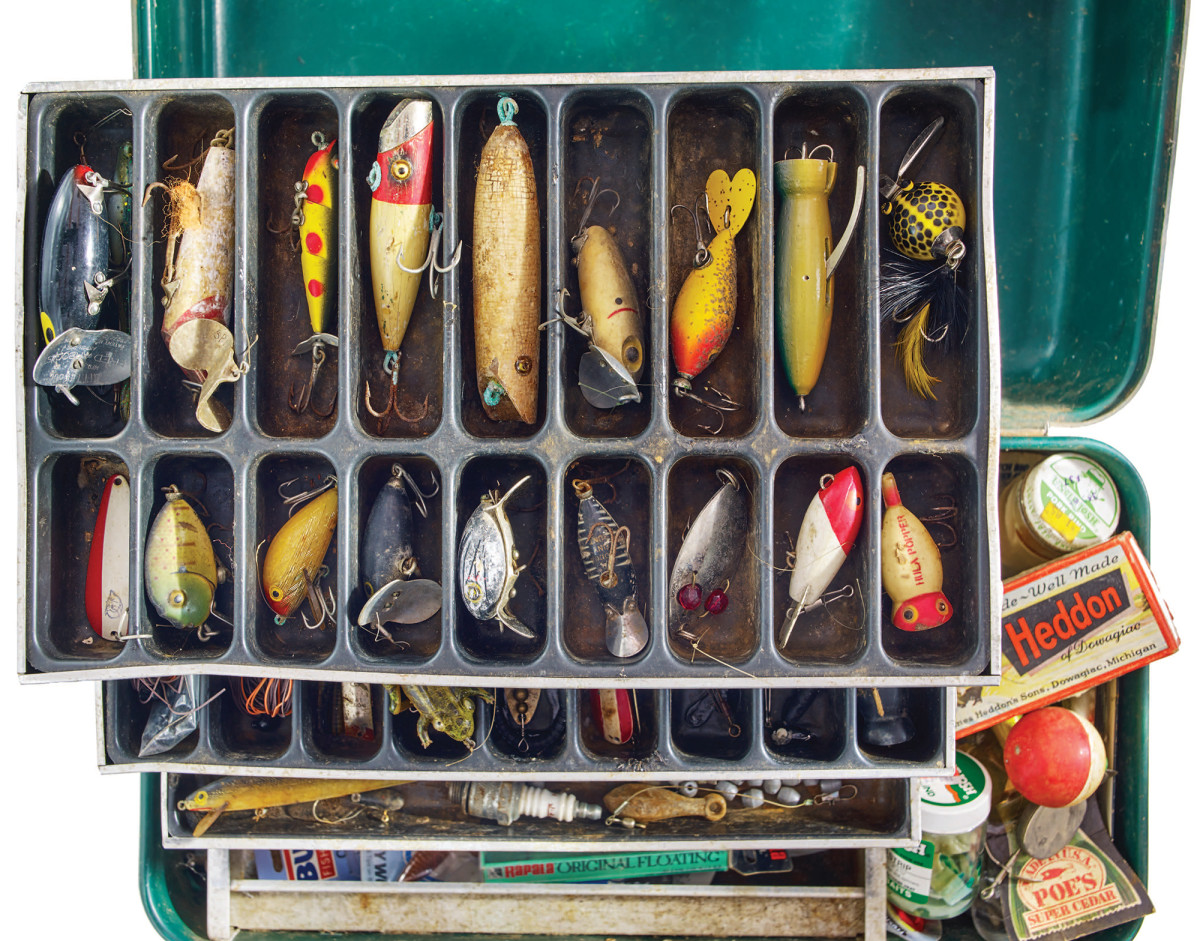 Henry Walsh's tackle box spoke of his seasons fishing for largemouth bass.