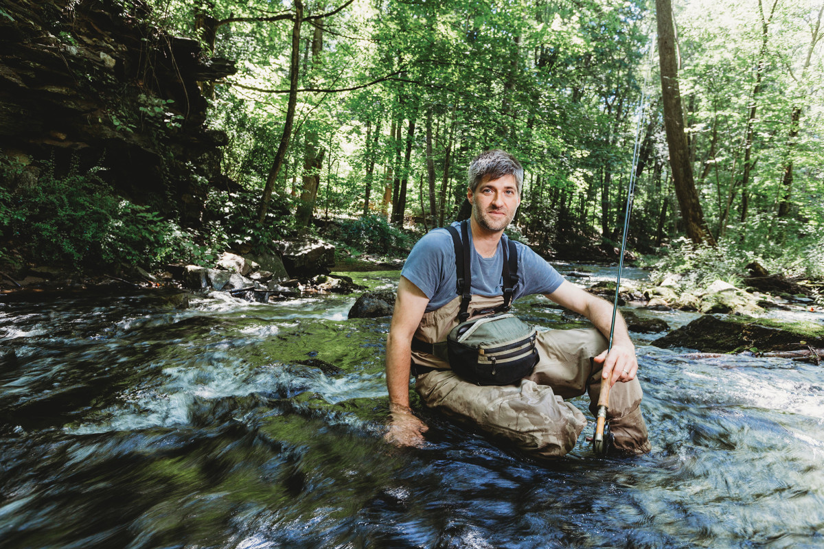 Artist James Prosek fishes the streams of his youth.