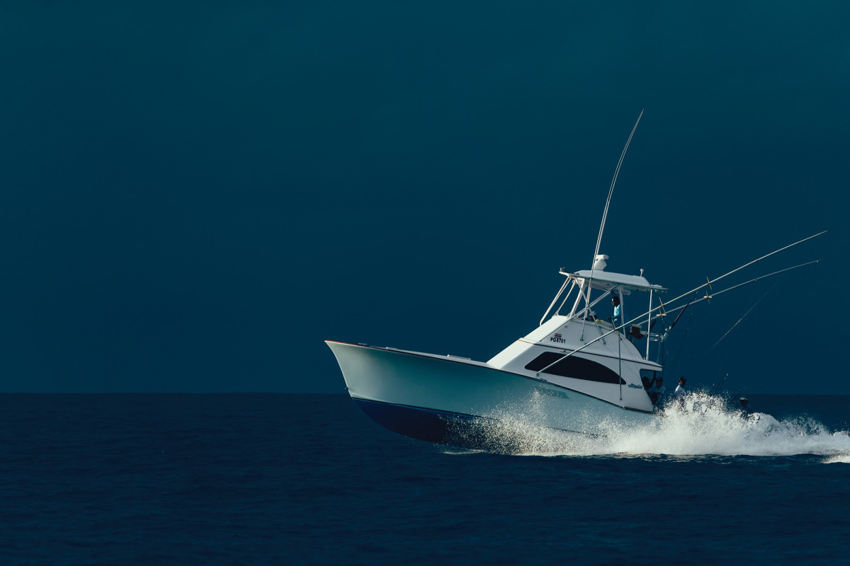 Homeward bound aboad the 42-foot Maverick sportfisherman Sea Fly.