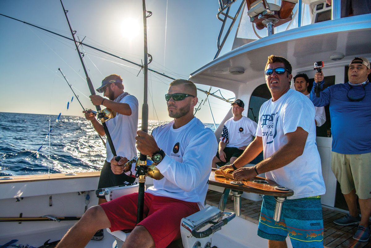 The WetVet organization helps veterans recognize positive adrenaline rushes, such as the howl of a reel when a big fish makes for the horizon.
