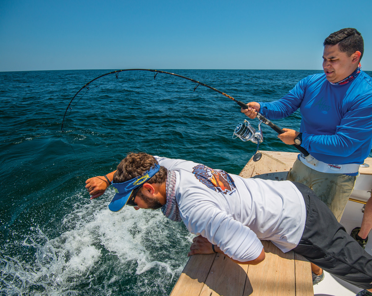 Fishing has a way of keeping you focused on the here and now, as former Marine Cpl. Steven Diaz discovered on an offshore trip.