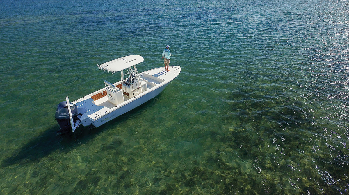 Versatility, seaworthiness and performance are just some of the reasons for the popularity of center consoles. The Pathfinder 2500 Hybrid is shown here.