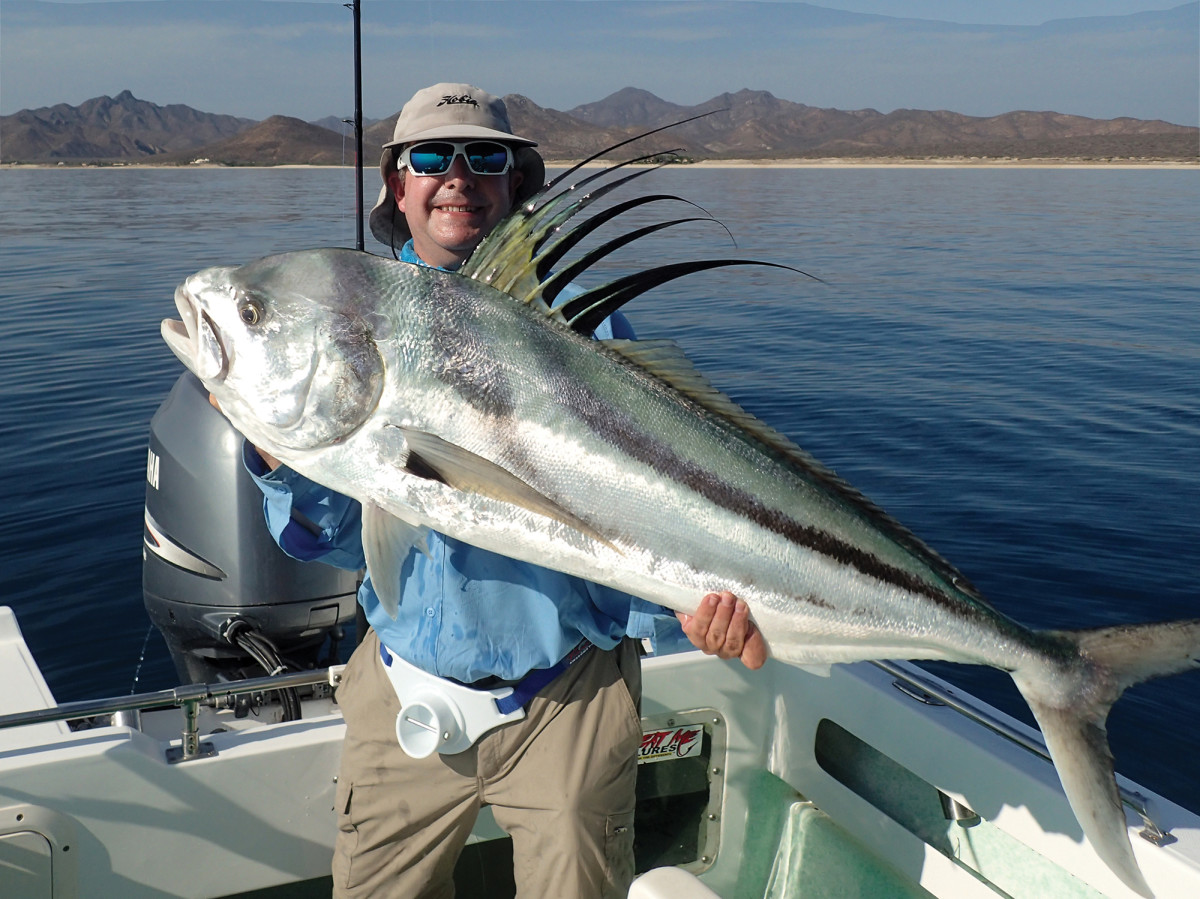 Harris took a nice roosterfish from a panga.