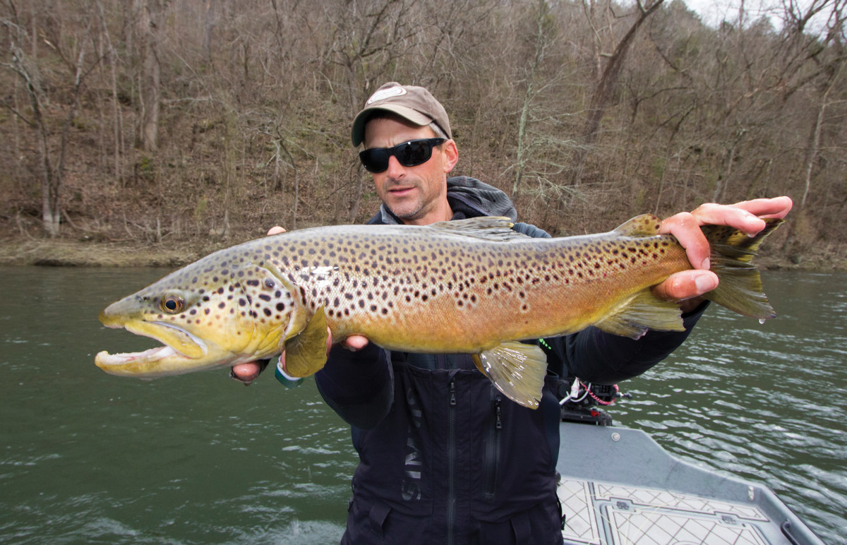 Alex Lafkas helped pioneer fishing big streamers for oversized browns on the White River in Arkansas.