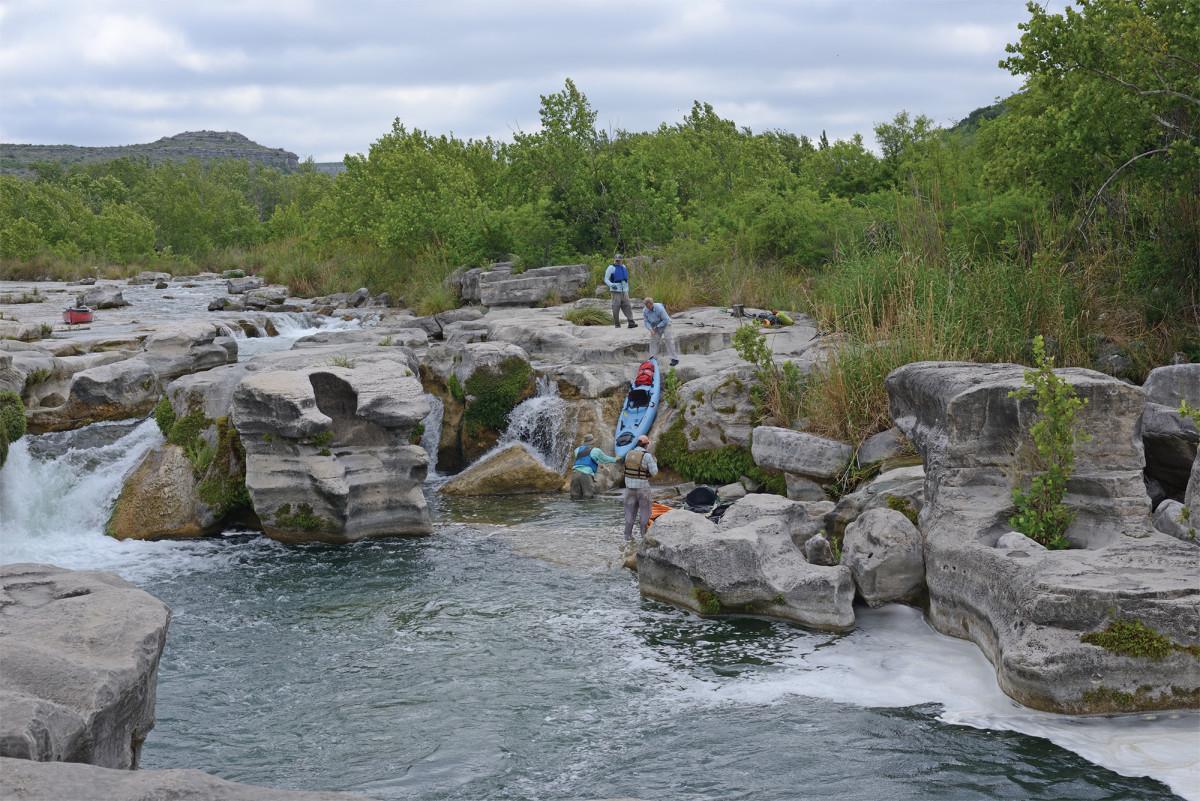 Portaging Dolan Falls.