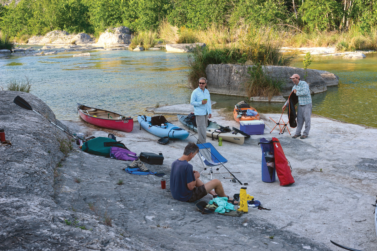 The paddlers traveled light: tackle, dehydrated food and a little sipping whiskey.