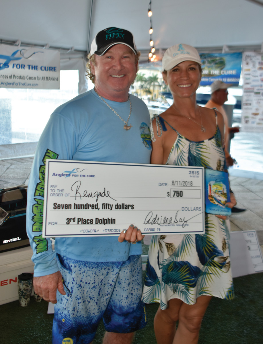 Adriana Somberg (right) founded Anglers for the Cure in memory of her late husband.