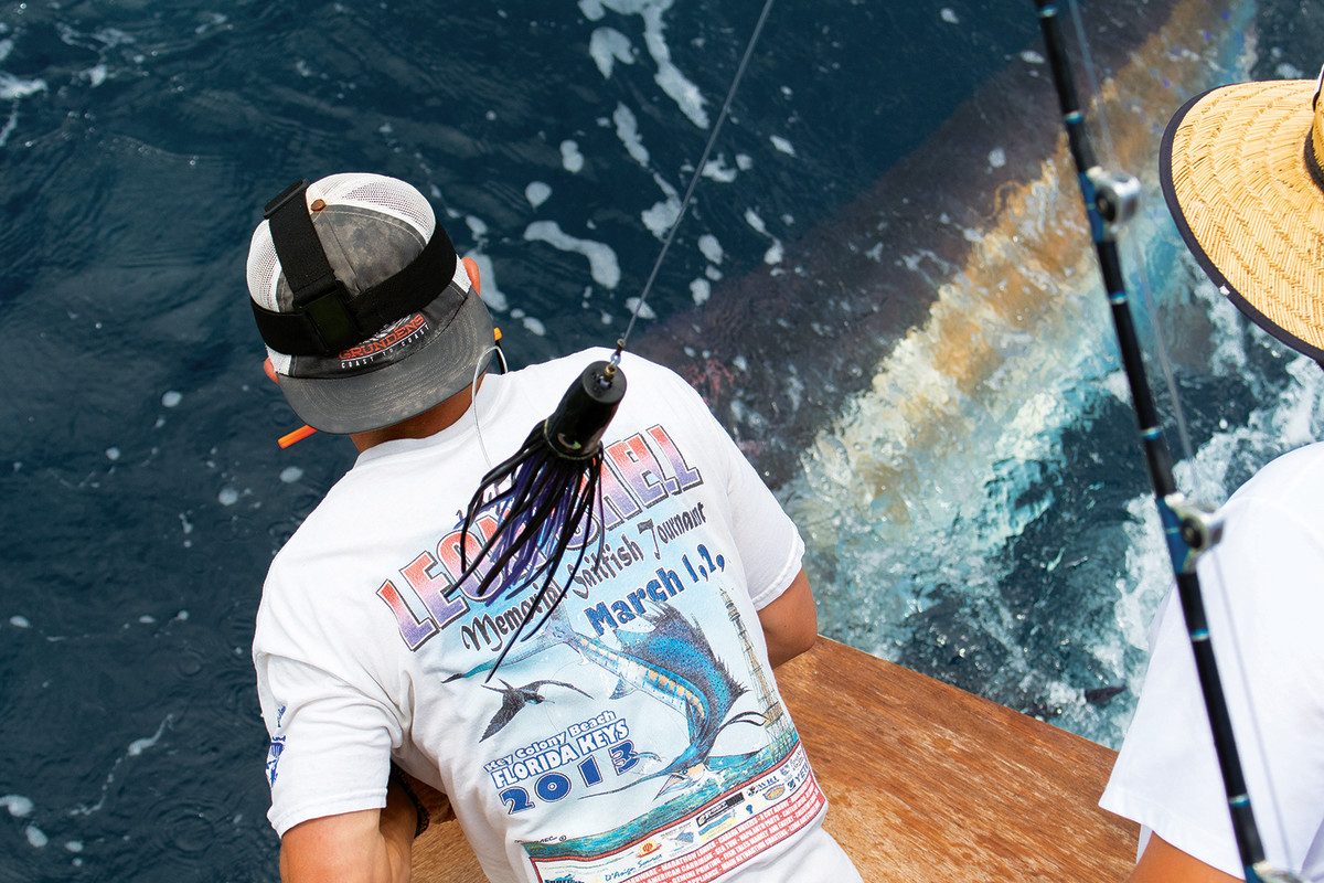 The tournament purse and a deckhand's reputation are at stake when a big fish comes alongside.