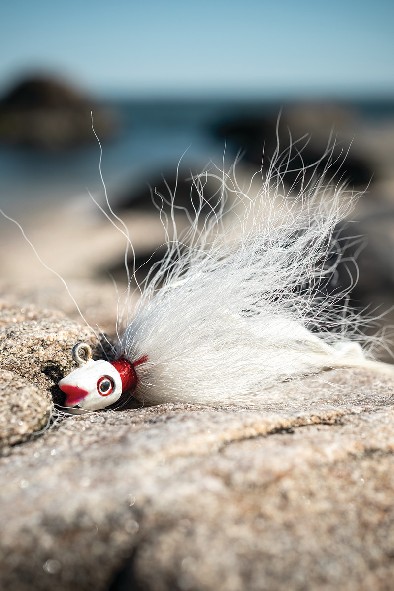 """Simple and effective, the bucktail """"will catch anything willing to hit an artificial,"""" Skinner says."""