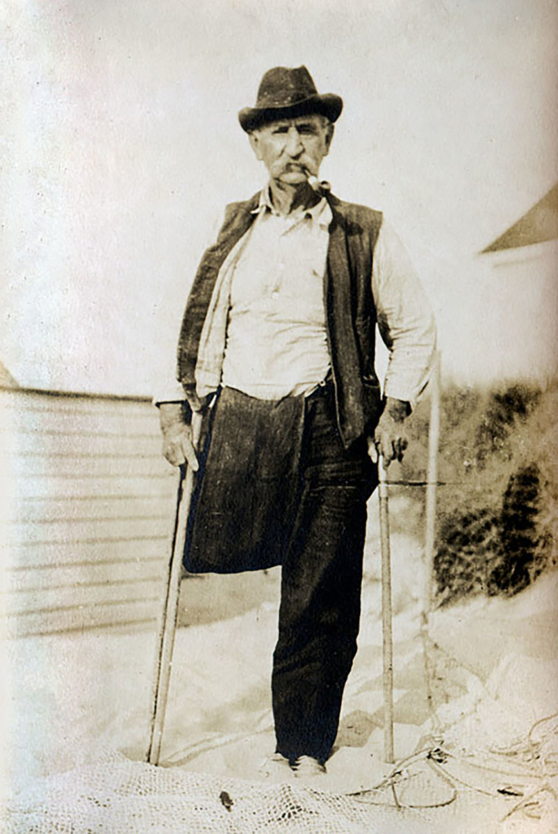 My great-grandfather, William Sisson, lost a leg in the Civil War. A Swamp Yankee, he ran a seine-net crew and lobstered.