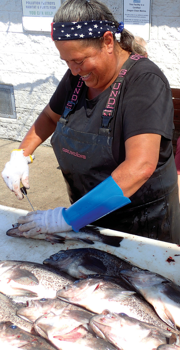 Vella has been known to clean and cut 1,000 fish in a day.