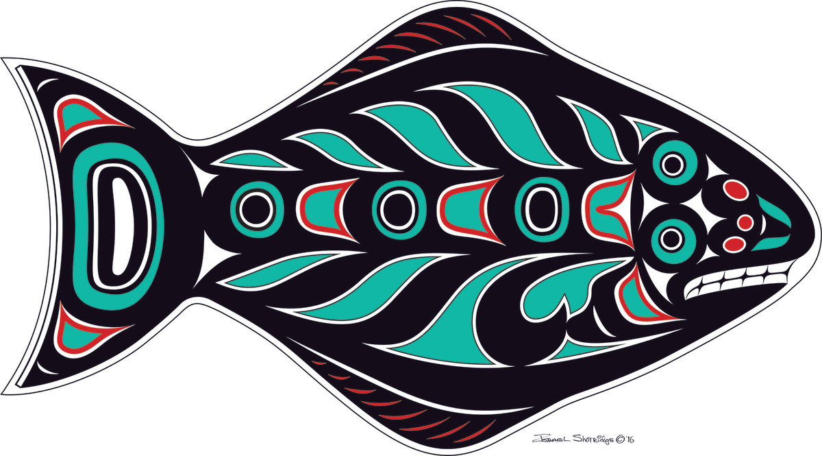 Tlingit master artist Israel Shotridge captures the abstract beauty of the Pacific halibut.