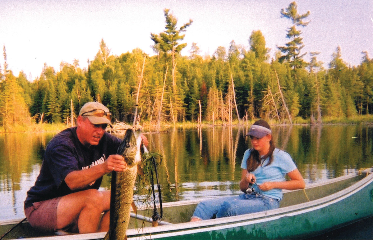 At 13 years old, the writer needed her father's help to land this 36-inch northern pike.