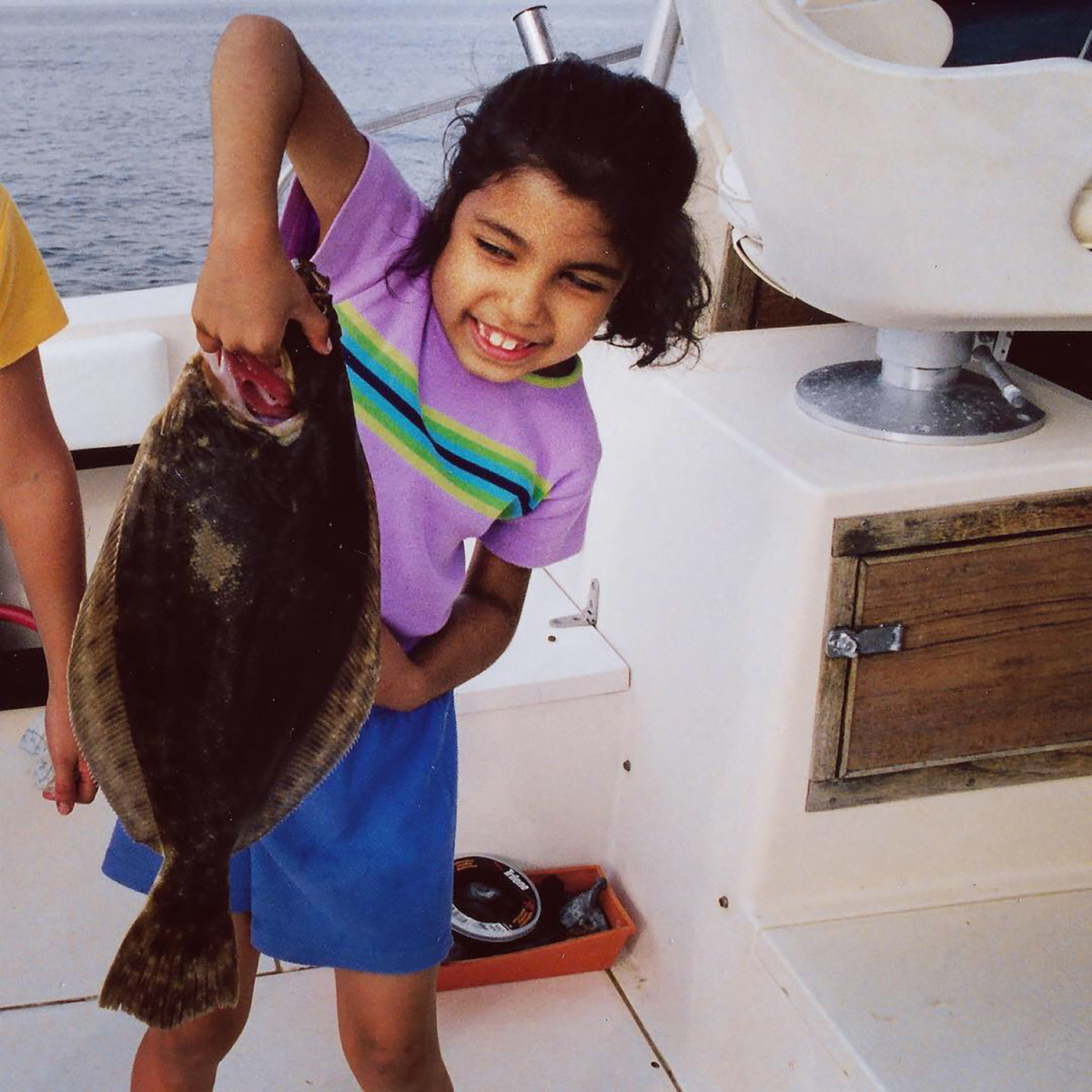 A young deGruchy with a nice doormat fluke.