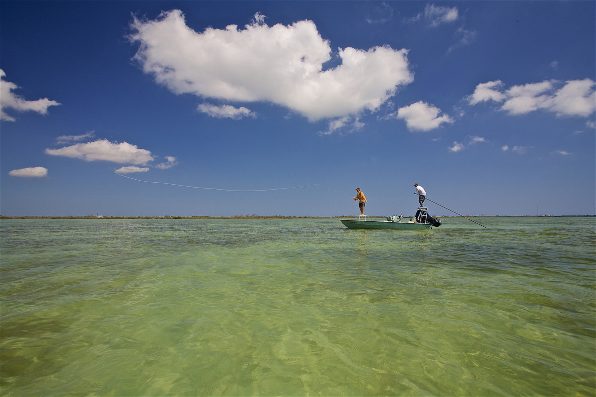 Spring-run tarpon, a good guide and skiff, and a nice cast.
