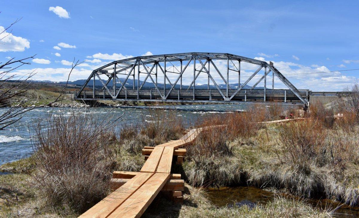 The legendary Madison River Three Dollar Bridge crossing.
