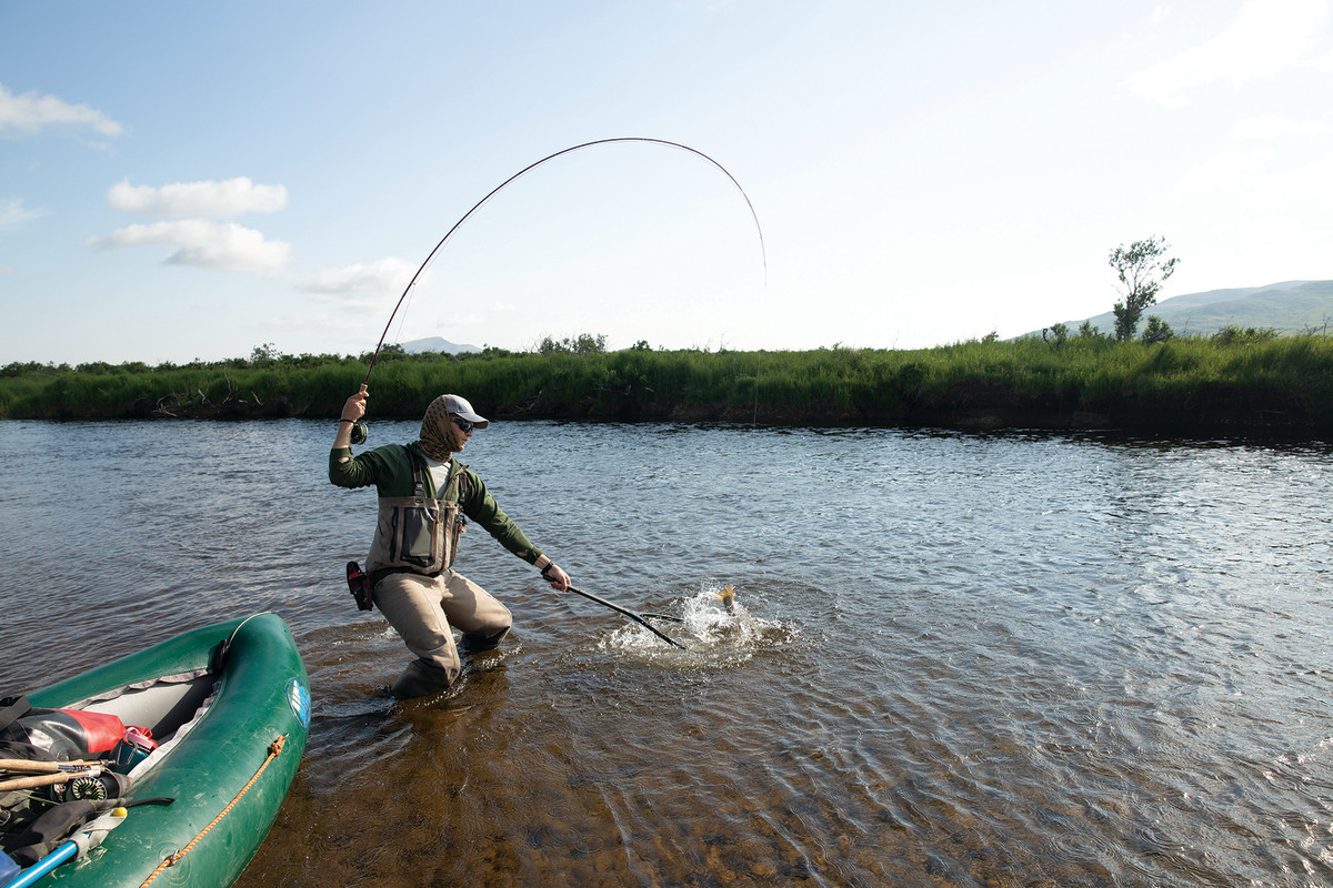 """The young men landed their fish solo unless one was deemed """"large."""""""