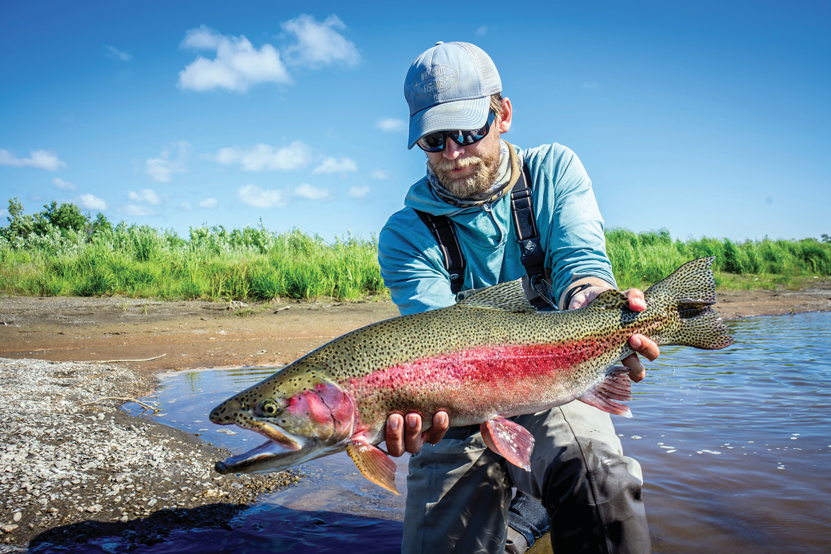 The rainbow that prompted the final stop on the river, a stretch that held the largest fish of the trip.